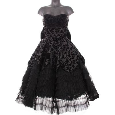 Black Lavintage - Vestido gotico de fiesta c13fa098b787