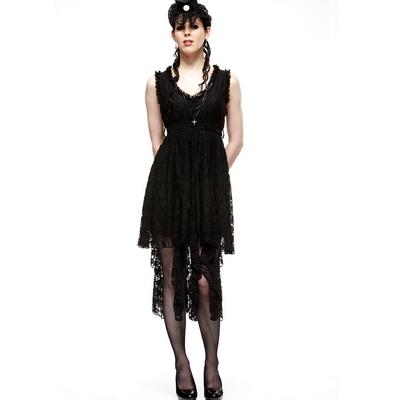 Serpentine - Vestido de encaje negro estilo steampunk