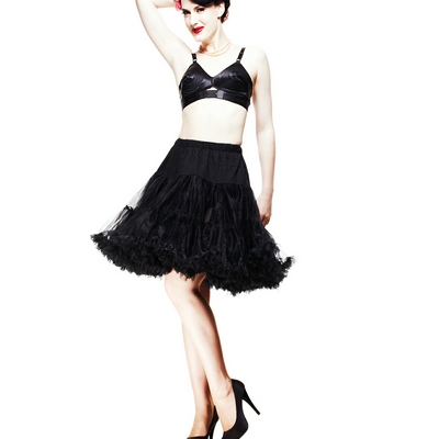 Pin up black Petticoat - Cancan pin up negro