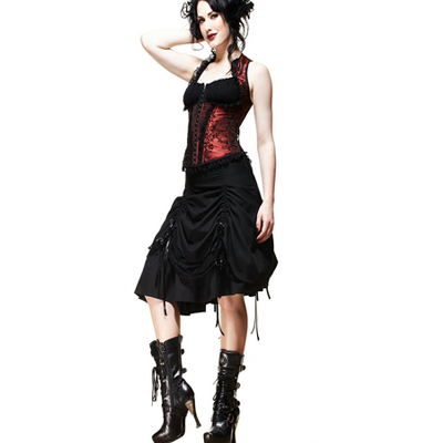 Tora - Falda steampunk negra