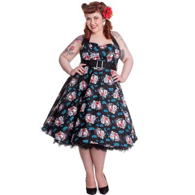 Geisha Plus - Vestido estampado con dibujos de tatuajes