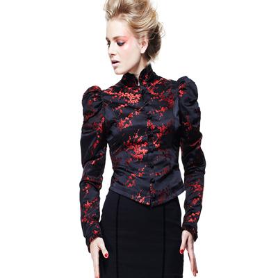 Roseanna - Chaqueta de fiesta en saten negro y bordados