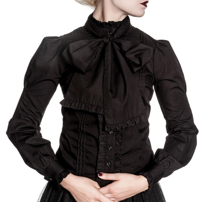 Virginia - Camisa negra estilo steampunk