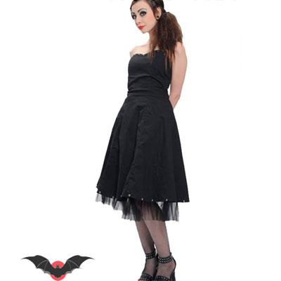 Romantic Doll - Vestido gotico negro con remaches