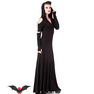 Lady Moon - Vestido largo con capucha estilo heavy