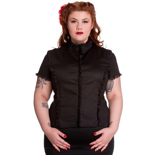 Sian - Camisa gótica en tallas grandes