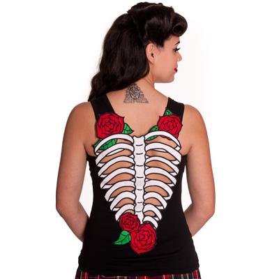 Skelerose Vest - Camiseta con costillas cortadas