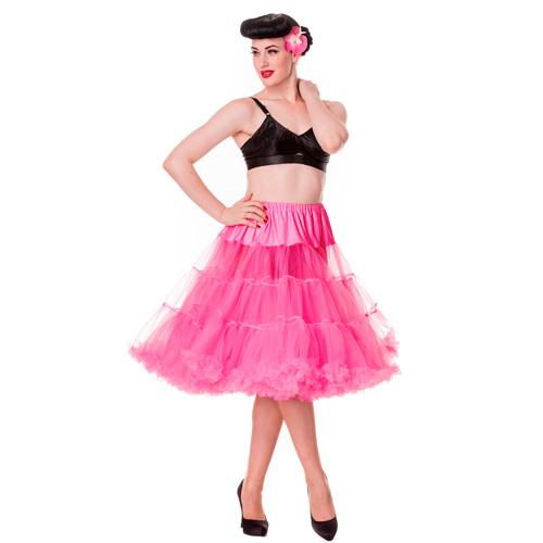 Pin up Petticoat - Cancan pin up en color rosa fuerte