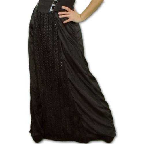 Dama Velvet - Falda gótica larga de terciopelo