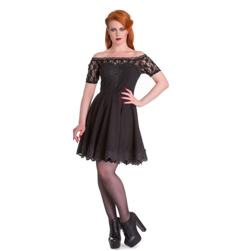 Amara - Vestido negro de moda gótica