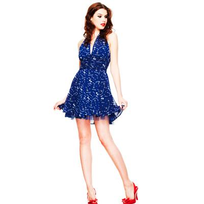 Pipper - Vestido de gasa azul