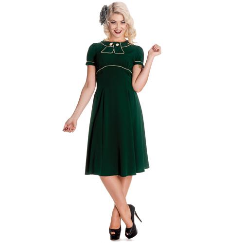 Mae West - Vestido estilo años 40 en verde