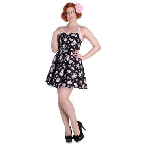 Amalia Mini - Vestido vintage corto en negro