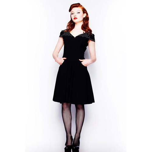 Evie BW - Vestido vintage de fiesta en negro y blanco